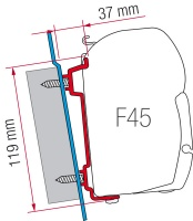 Fiamma F45 S - F45 Ti L Zip Awning Fitting Kits