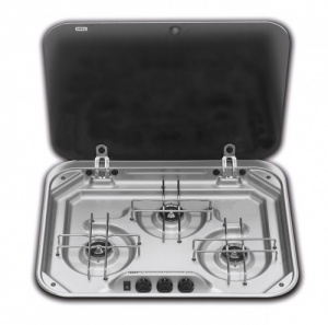 Dometic Smev 8023 - 3 Burner Hob with Glass Lid