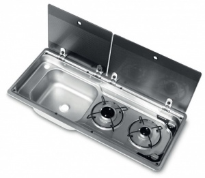 Smev 9722 - 2 Burner Combination Unit with Glass Lids