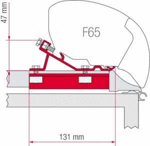 Fiamma F65 / F80 Adapter Kit - Fixing Bar