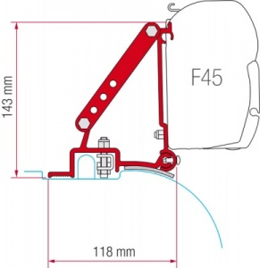 Fiamma F45 Awning Adapter Kit - Ducato After 2006 (High Roof)