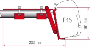 Fiamma F45 Awning Adapter Kit - Kit Roof Rail