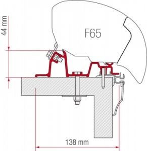 Fiamma F65 / F80 Adapter Kit - Caravan Hobby 2009