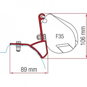 Fiamma F35 Awning Adapter Kit - Trafic/Vivaro After 2015