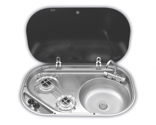 Smev 8322 - 2 Burner Hob & Sink Combination Unit