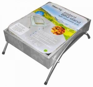 Instant BBQ Stand With Disposable Grill