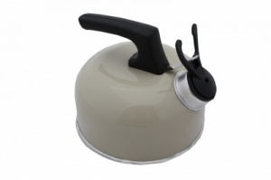 SunnCamp 1 Litre Camping Whistling Kettle - Cream