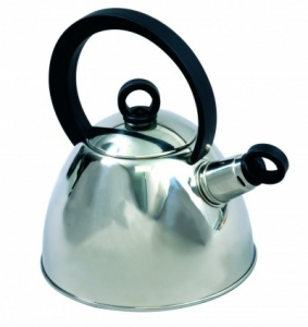 SunnCamp 1.8 Litre Nouveau Stainless Steel Camping Whistling Kettle
