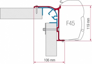 Fiamma F45 Awning Adapter Kit - Bailey MK 1