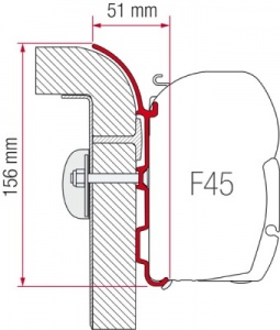 Fiamma F45 Awning Kit - Burstner