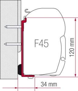 Fiamma F45 Awning Adapter Kit - Fleurette