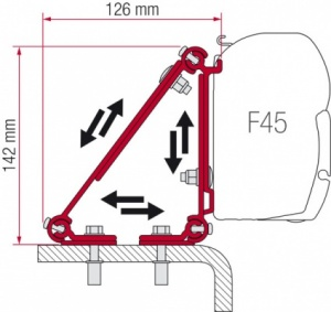 Fiamma F45 Awning Adapter Kit - Kit Multi