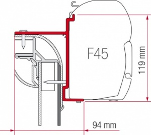 Fiamma F45 Awning Adapter Kit - Pilote Explorateur