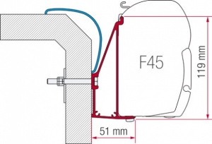 Fiamma F45 Awning Adapter Kit - Rapido Serie 6