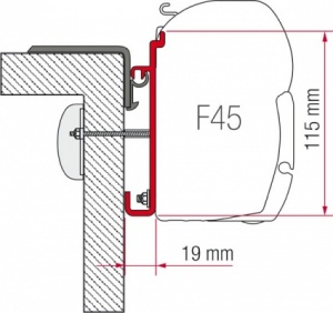 Fiamma F45 Awning Adapter Kit - Rapido Serie 7- 8