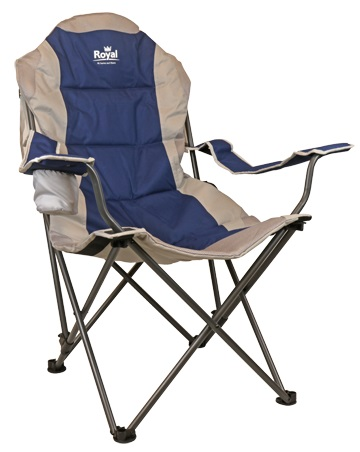 Royal Adjustable Folding Camping Chair In Blue