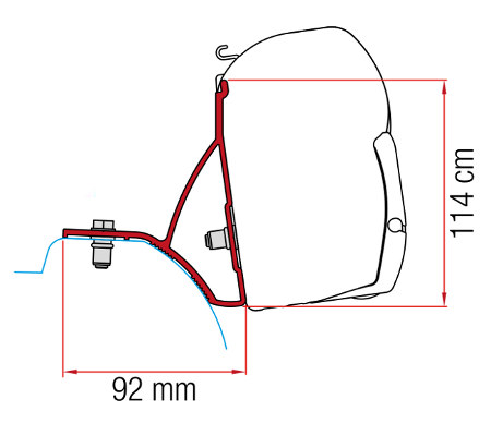 Fiamma F45 Awning Adapter Kit Trafic After 2015