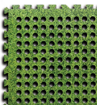 Interlocking flooring for camping tent caravan awning mats - Interlocking deck tiles on grass ...