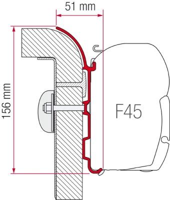 Fiamma F45 Awning Adapter Burstner