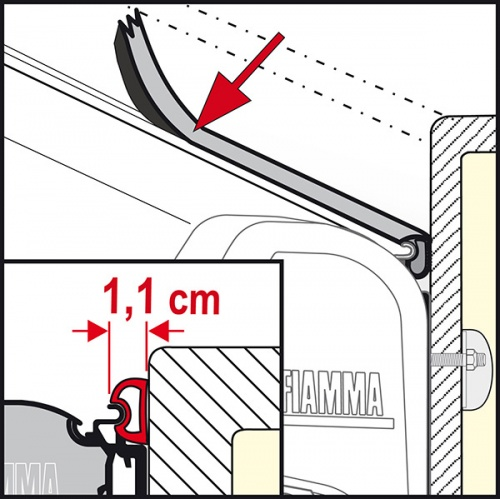 Fiamma Awning Rain Guard S Rubber Seal For Awnings