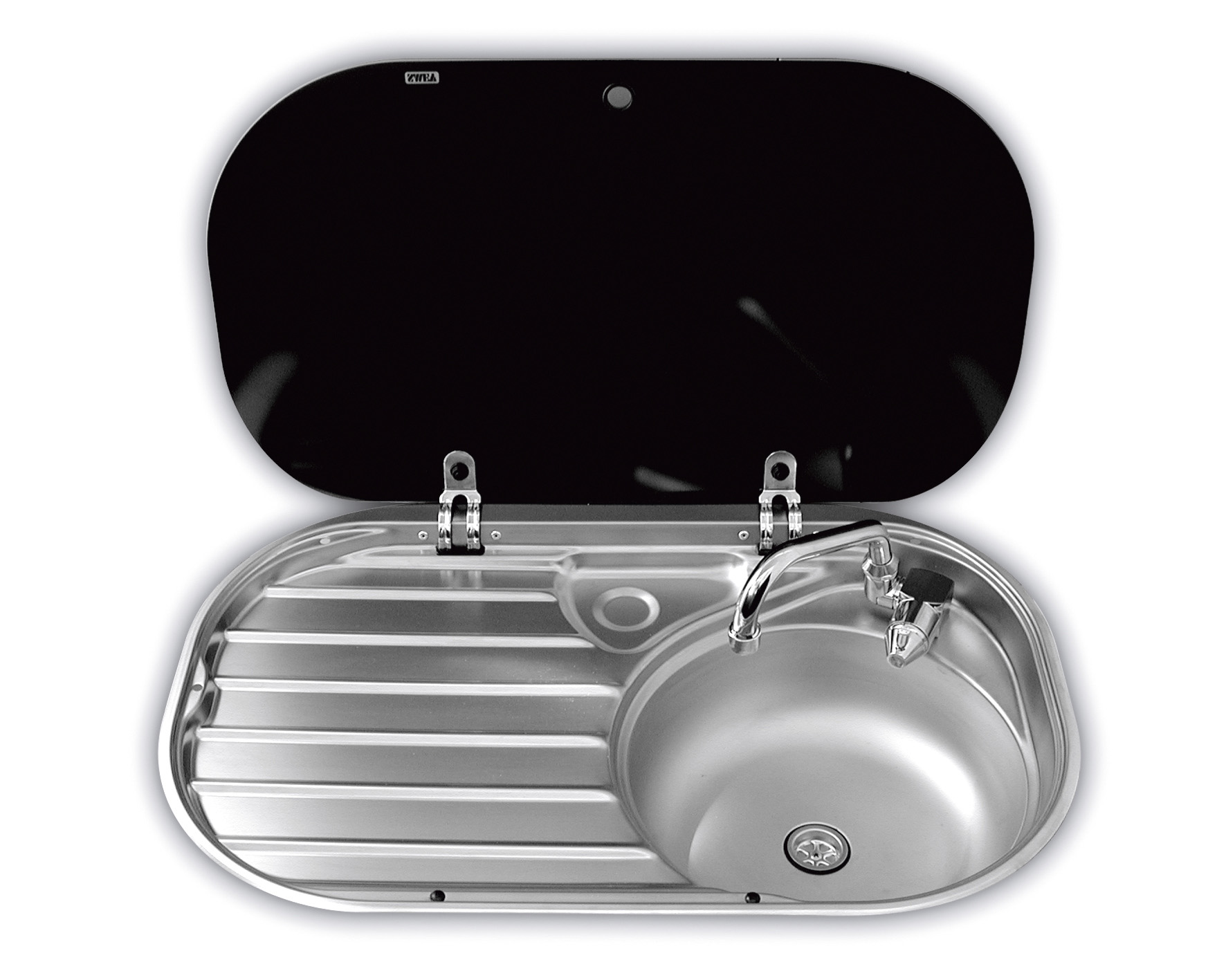 Dometic Smev 8306 Sink Amp Drainer With Glass Lid