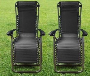 Leisurewize Black Zero Gravity Chair (pair)