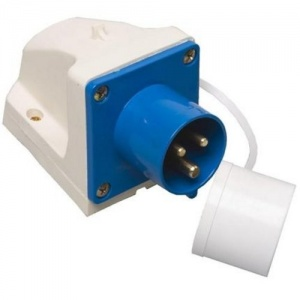 Mains Inlet Surface Mounted (angled) Socket