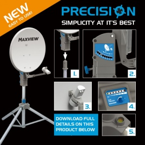 Maxview Precision Portable Satellite System Tripod Kit