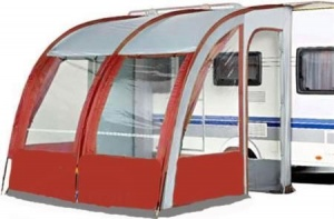 260 XL Lightweight Caravan Porch Awning - Burgundy