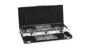 Outwell Appetizer Double Burner & Grill Camping Stove