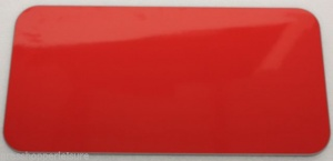 Red Gloss Wooden Table Top