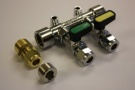 Gas Manifold 8mm 2 Way