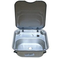 Spinflo Rectangular Sink With Glass Lid