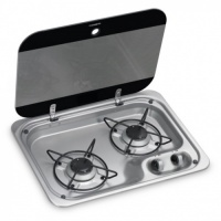 Dometic HBG 2335 2 Burner Hob with Glass Lid