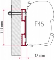 Fiamma F45 Awning Adapter Kit - Adapter D