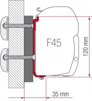 Fiamma F45 Awning Adapter Kit - Dethleffs Globebus