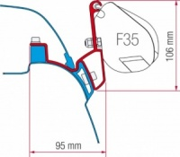 Fiamma F35 Awning Adapter Kit - VW T5/T6 California