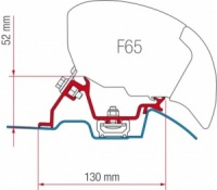 Fiamma F65 / F80 Adapter Kit - Sprinter After 2006 With Roof Rail