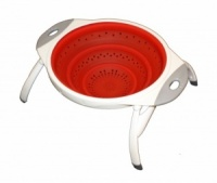 SunnCamp Collapsible Silicone Colander With Legs