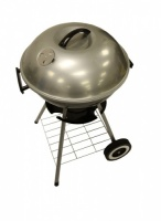 SunnCamp Deluxe Large Circular Silver Barbecue BBQ