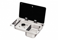 Can FL1323 - 1 Burner Combination Unit with Glass Lid