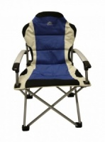 Sunncamp Deluxe Steel Super Armchair Folding Camping Chair - Blue