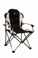 Sunncamp Deluxe Steel Super Armchair Folding Camping Chair - Black