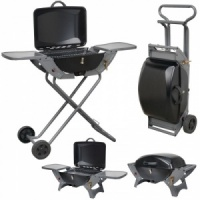 Combo Portable Gas Barbecue BBQ With Folding Trolley