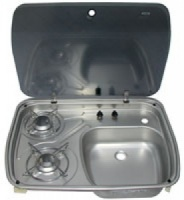 Dometic Cramer 2 Burner Combination Unit with Glass Lid