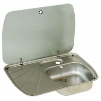 Dometic Cramer Sink + Drainer With Glass Lid