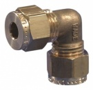 Gas Connector - 8mm (5/16'') Elbow