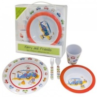 Harry and Friends Childrens 5 Piece Melamine Set