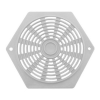 Hexagon 80mm Plastic Vent (Pack of 2) - White