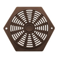 Hexagon 80mm Plastic Vent (Pack of 2) - Brown